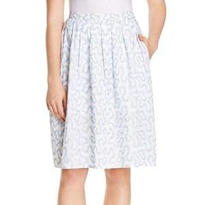 Michael Kors Embroidered A-line skirt